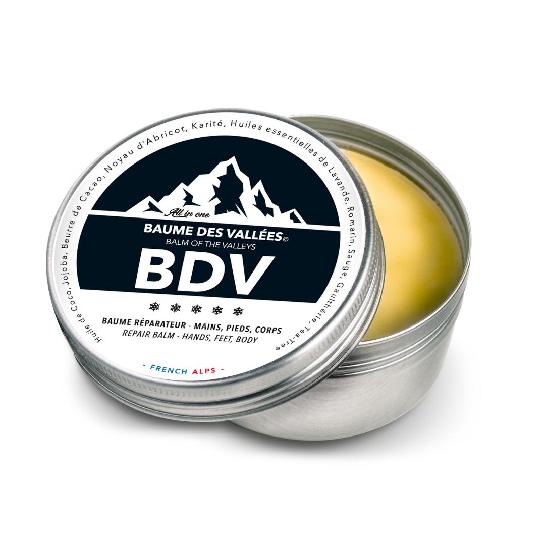 BDV. Baume des Vallées ® Hydratant, Décontractant des Muscles & Articulations, [Antibactérien, Antiseptique, Antiviral]